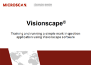 Visionscape: Training and Running a Simple Mark Inspection Application Using Visionscape Software